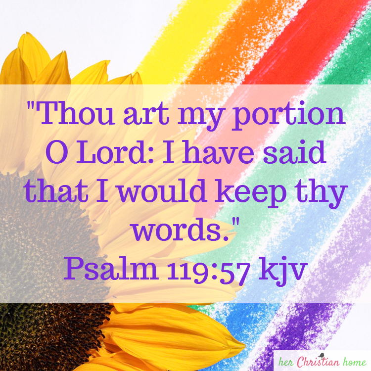 Bible Verse Image Thou art my portion Psalm 119:57 kjv