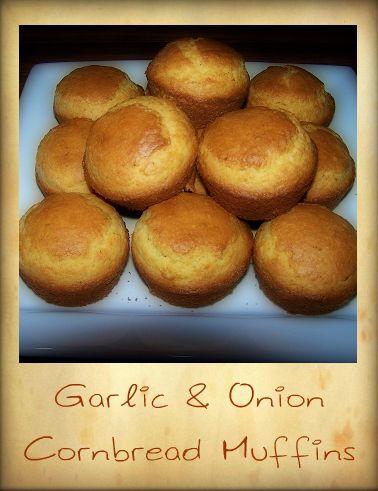 garlic-onion-cornbread-muffins-recipe