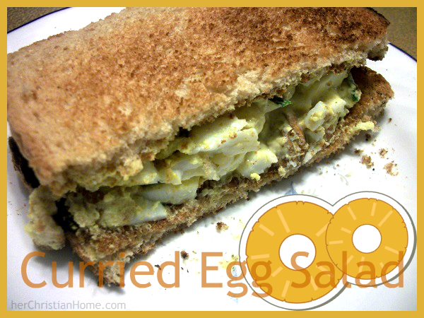 Curried Egg Salad Recipe – No Mayo! – herChristianhome.com