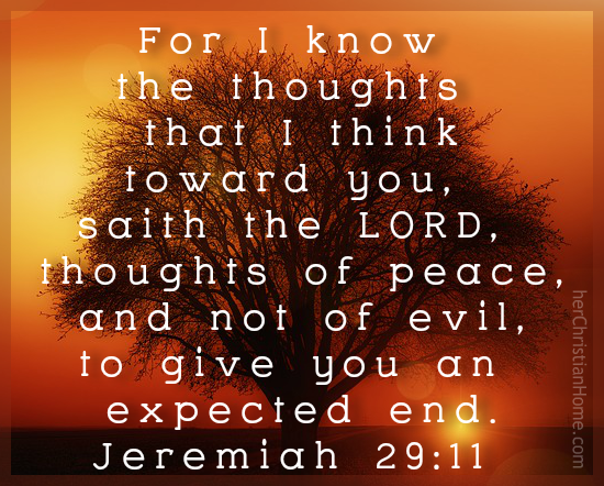 Thoughts of Peach - Jeremiah 29:11