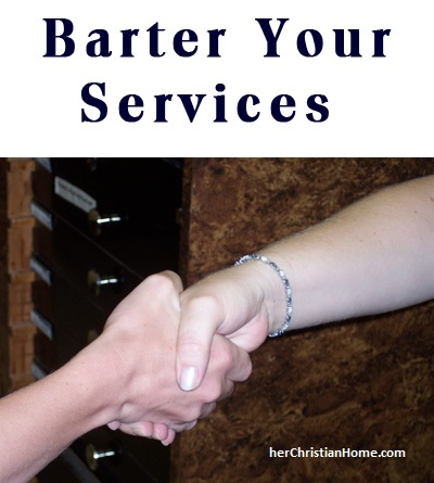 bartering your services