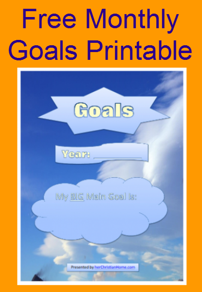 free-monthly-goals-printable