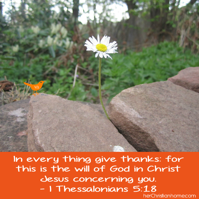 In Everything Give Thanks - I Thessalonians 5-18