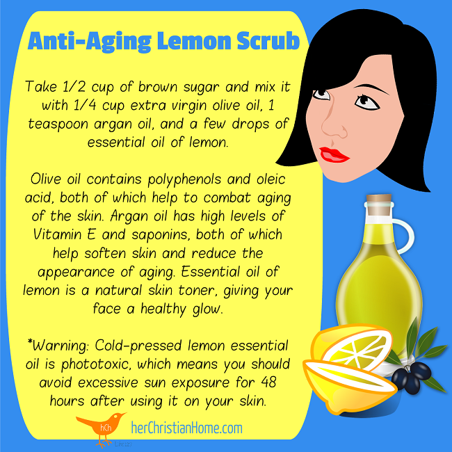 Anti-Aging Lemon Scrub Recipes 650x650