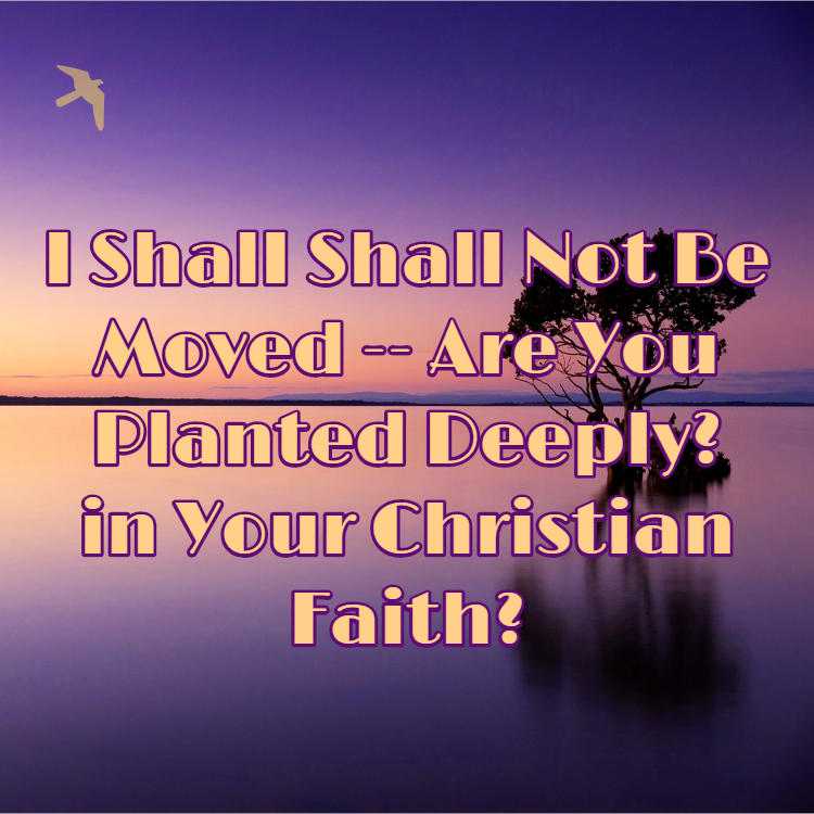 I Shall Not Be Moved — Are You Planted Deeply in Your Christian Faith?