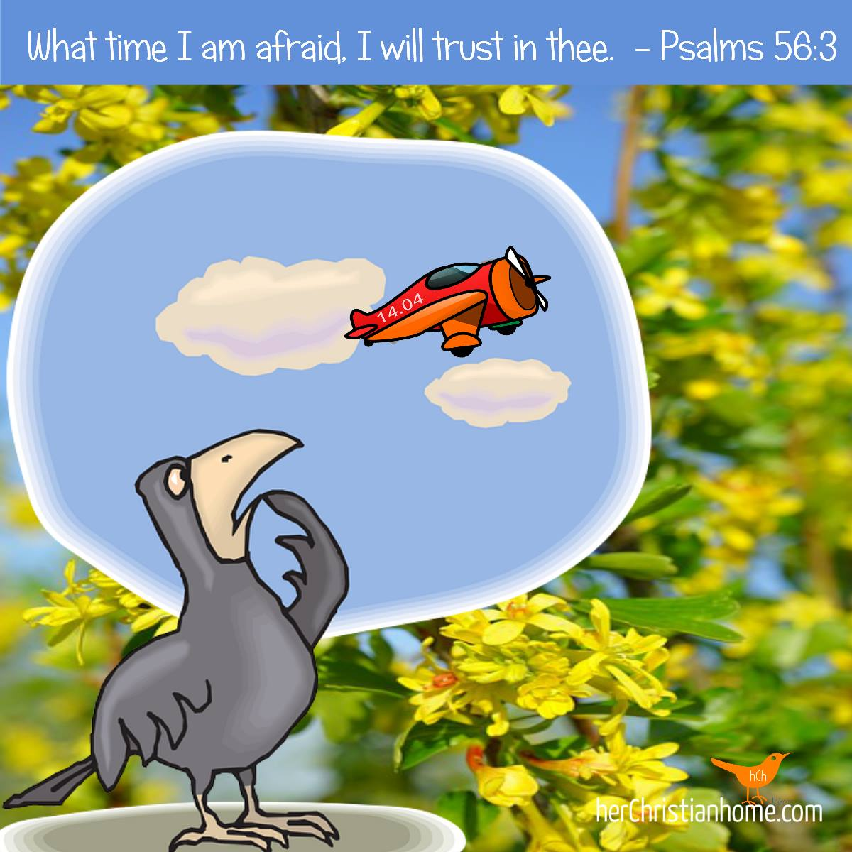 What time I am afraid I will trust in thee. Psalms 56:3 KJV #bibleverses #overcomefear