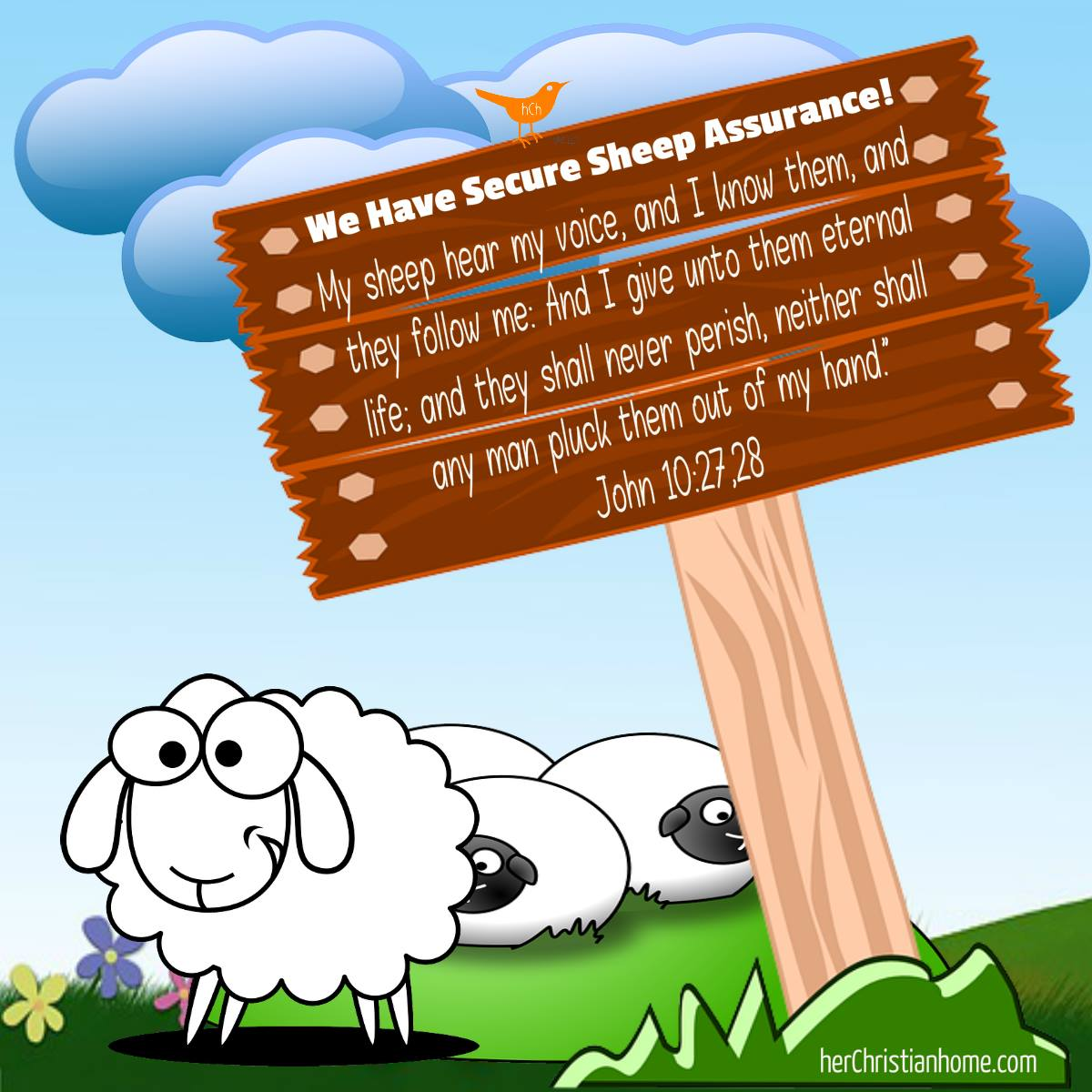 My sheep hear my voice John 10:27, 28 kjv #sheep #security #bibleverses