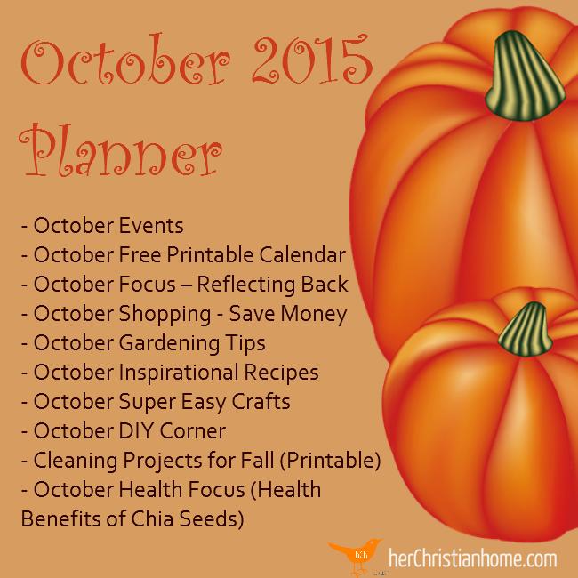 October 2015 - Free Printable Calendar - Planner