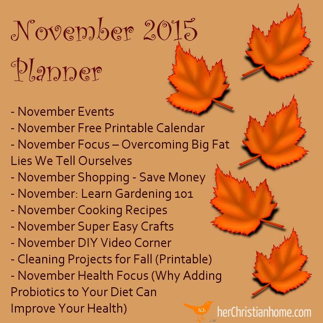 November 2015 - Free Planner
