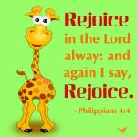 Rejoice, Rejoice.. You CAN Rejoice!