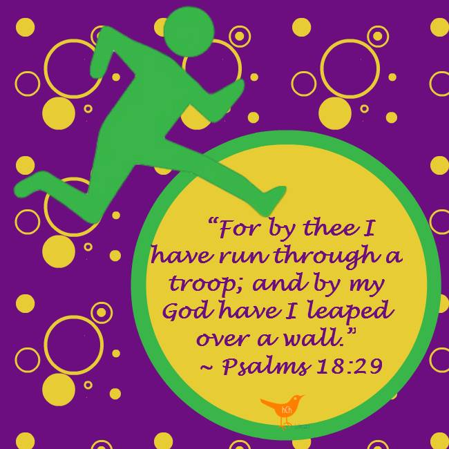 by my God have I leaped over a wall. - Psalm 18:29 kjv