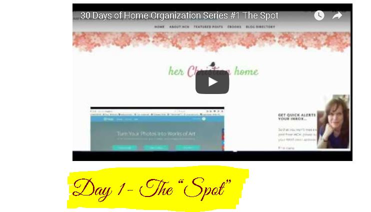 Home Organization Series – The Dump Spot – Day 1
