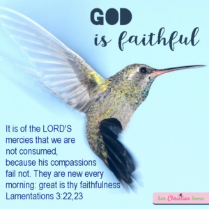 God is faithful - christian image