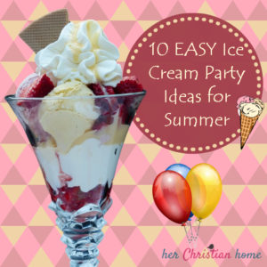10 Easy Ice Cream Party Ideas - image with ice cream sundae