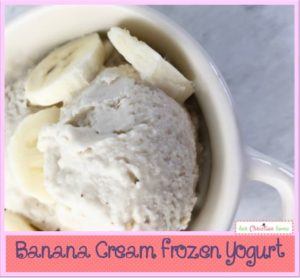 Banana Cream Frozen Yogurt Recipe #healthydesserts #bananadesserts