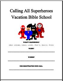 ministry helps - VBS ideas - Calling All Superheroes #vbs #ministryhelps #superheroes