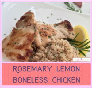 Rosemary Lemon Boneless Chicken Thighs Recipe #chickenrecipes #cleaneatingrecipes