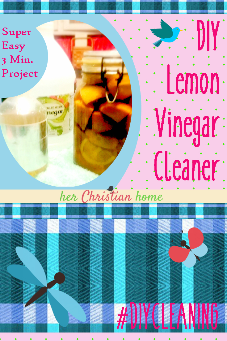 DIY lemon vinegar cleaning solution - 3 minute project #diycleaning #diyhome