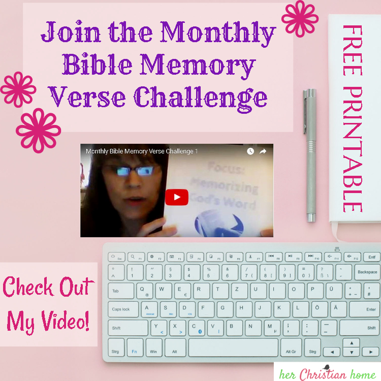 Monthly Bible Memory Verse Challenge – Month 1 – Memorizing God's Word