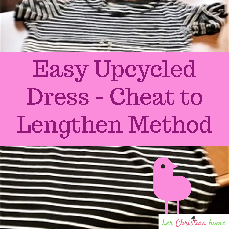 Easy Upcycled Dress - Cheat to Lengthen Method