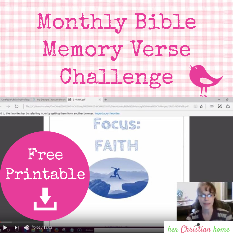 monthly Bible memory verse challenge #freeprintable #printables #bibleverses