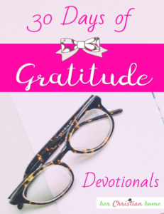 30 Days of Gratitude Devotionals - Free Download #freebie #30daysofgratitude