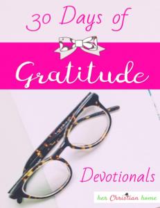 30 Days of Gratitude Devotionals - Free Download #freebie #30daysofgratitude