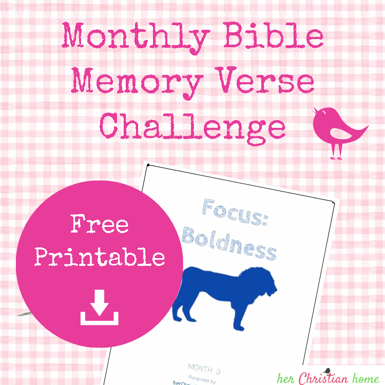 Bible Memory Verse Challenge - BOLDNESS #boldness #biblememoryverses #bibleverses