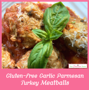 Gluten free garlic parmesean turkey meatballs #cleaneatingrecipes #meatballs #glutenfreerecipes