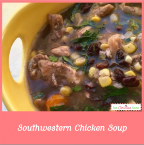Southwestern Chicken Soup Recipe #chickenrecipes #souprecipes
