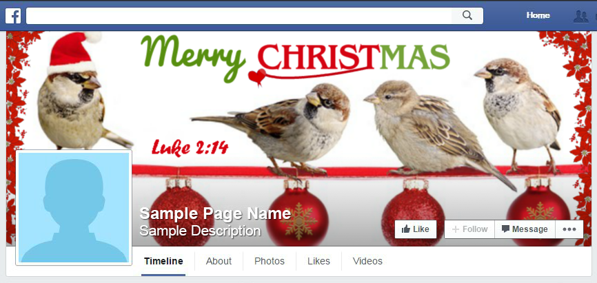 Merry Christmas kjv FB cover photo image #merrychristmaskjv