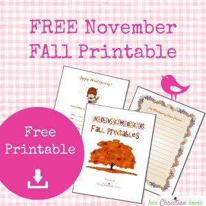 Free November Fall Printable - #November #freeprintable