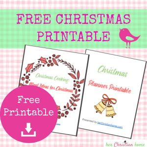 Free Christmas Printable #freeprintables #christmasplanner