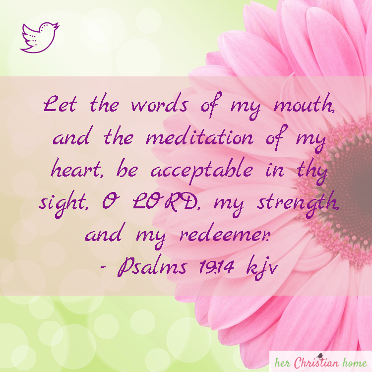 Let the words of my mouth Psalms 19 14 kjv #Psalms #bibleverses