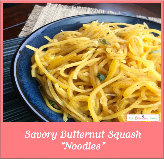 Savory Butternut Squash Noodles #butternutsquashrecipes #veggies