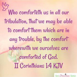 Who comforteth us II Corinthians 1:4 kjv #bibleverses #kjv #comfort
