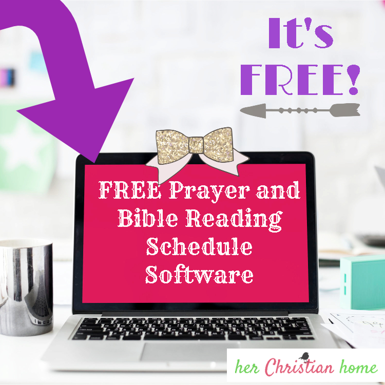 Free Prayer and Bible Reading Schedule Software