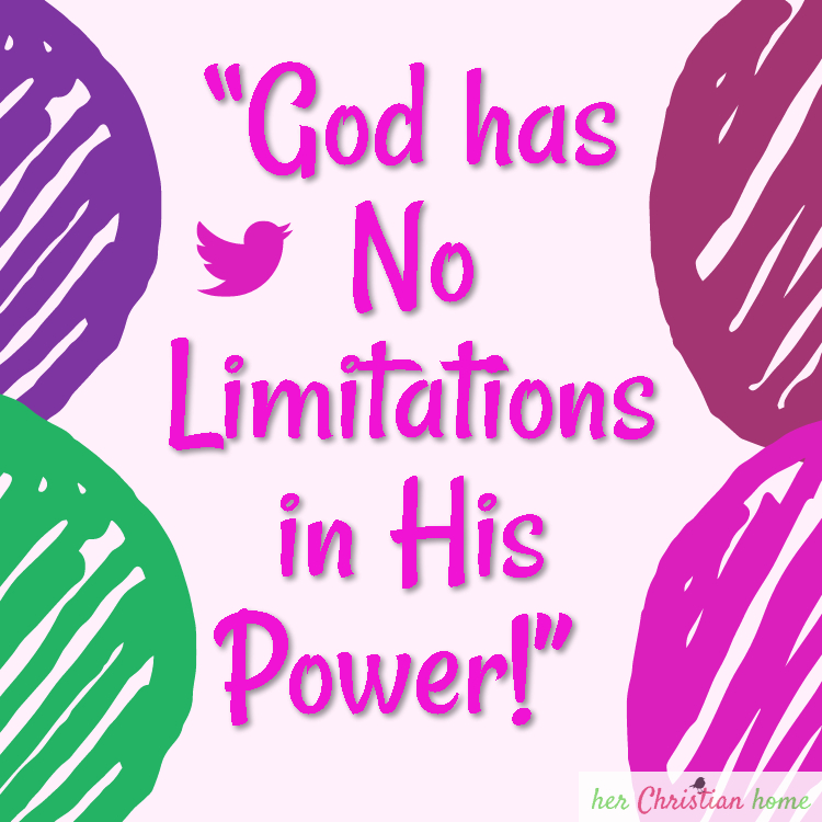 God has no limitations in power #christianity #godisgood