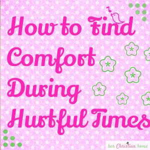 How to Find Comfort During Hurtful Times #comfort #devotional