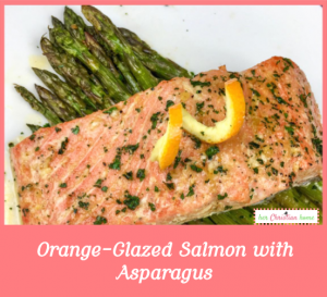 Orange Glazed Salmon with Asparagus #cleaneatingrecipes #salmonrecipes