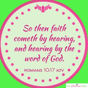 So then faith cometh by hearing Romans 10:17 kjv #faith #bibleverses