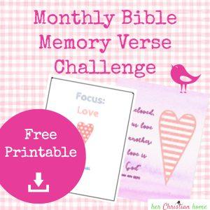 Bible Memory Verse Challenge Love