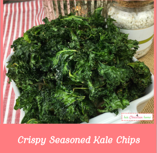 Crispy Seasoned Kale Chips Recipe #veggies #vegetables #recipes