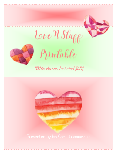 Love N Stuff – Valentines Day Free Printable