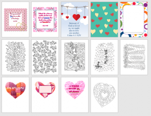 love printables valentines