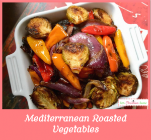 Mediterranean Roasted Vegetables #mediterranean #roastedvegetables