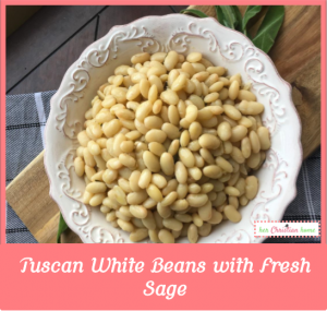Tuscan White Beans with Fresh Sage #beans #sage #cleaneatingrecipes
