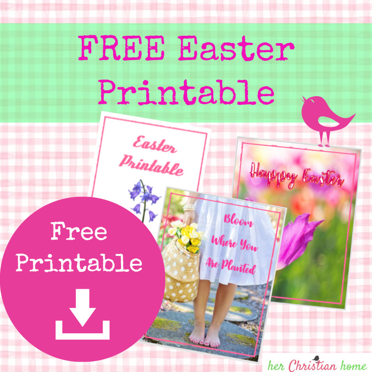 FREE Easter Printable for Home, School, Ministry, Craft Projects
