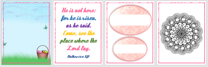 Free Easter Printable - Bible Verse Matthew 28:6 KJV