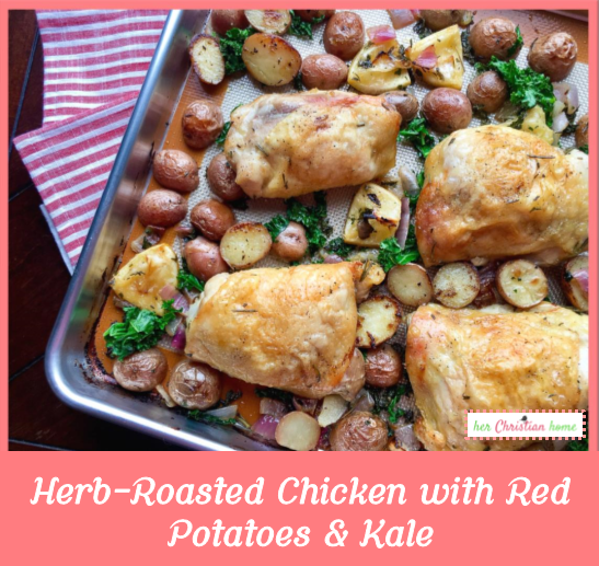 Herb-Roasted Chicken with Red Potatoes & Kale ...